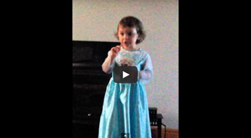 Little girl sings frozen